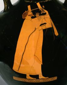 Aède chantant, Peintre de Berlin, Athènes, 5e siècle av. J.-C. @RMN. Grand Palais/musée du Louvre/Christian Larrieu