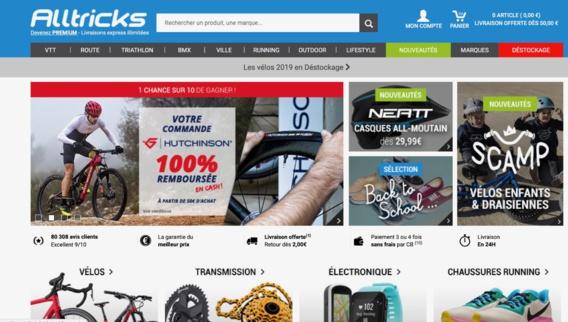 Decathlon rachète Alltricks, le leader français du vélo en ligne