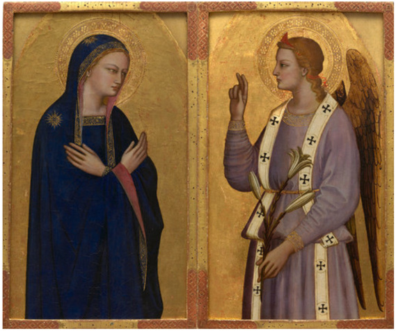 Nardo di Cione,  L'Annonciation, vers 1350-1355, Collection Alana, Newark, DE, États-Unis, Photo : © Allison Chipak