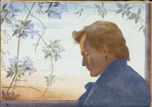 Crépuscule, Portrait du sculpteur N.H. Jacobsen par Henriette Hahn-Brinckmann. Aftenstemning. Vejen Kunstmuseum. Foto Pernille Klemp