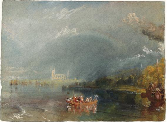 Jumièges, vers 1832, gouache et aquarelle sur papier, 13,9 x 19,1 cm, Tate, accepté par la nation dans le cadre du legs Turner 1856, Photo © Tate