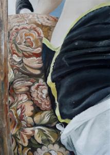 Motifs, 2020, huile et spray sur toile, 100 x 70 cm / courtesy galerie Anne-Sarah Bénichou