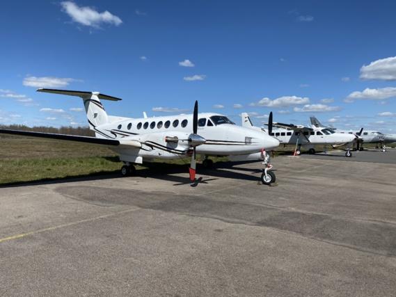 Beechcraft, Cessna 208, Merlin III, un échantillon des 30 avions mis en oeuvre par CAE, et dont CAVOK assure la transformation, la maintenance, mais aussi la formation du personnel opérationnel