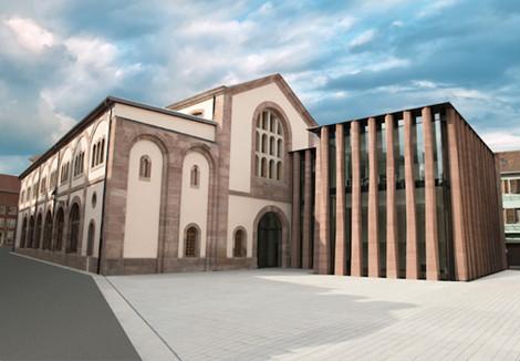 Bibliothèque Humaniste, Façade place Kubler ©Ville de Sélestat
