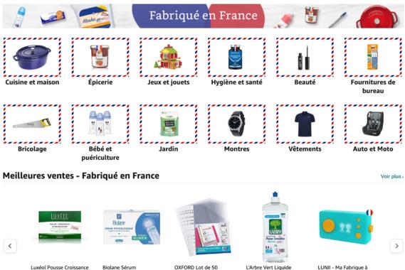 """Amazon crée une boutique """"Fabriqué en France"""""""