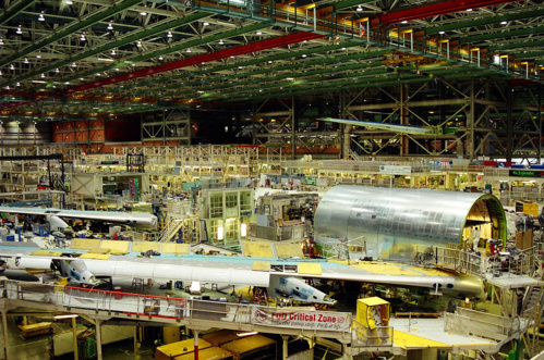 Hangar d'assemblage de Boeing, Seattle (crédit : Wikimedia.org)