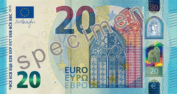 Argent : la BCE dévoile le nouveau billet de 20 euros