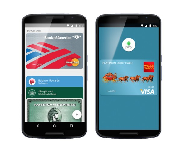 Android Pay se lance aux États-Unis pour concurrencer Apple Pay