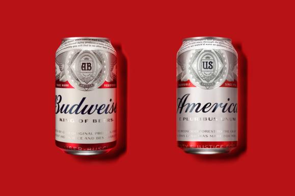 La bière Budweiser devient America