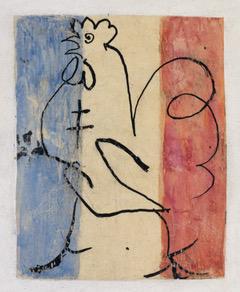Coq tricolore à la croix de Lorraine, Printemps 1945 © RMN-Grand-Palais/Succession Picasso