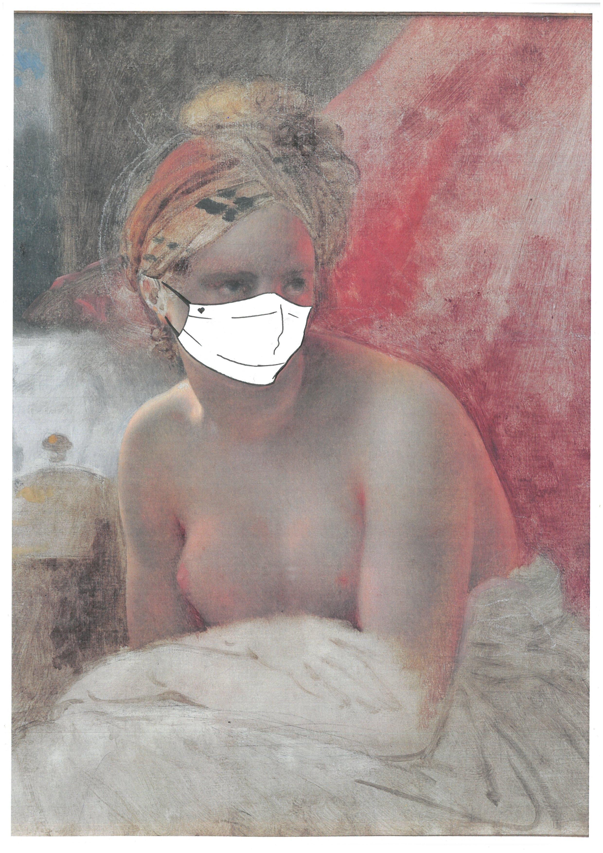 Girodet, L'Odalisque (masquée), du compte Facebook du musée Girodet, Montargis @musee.girodet