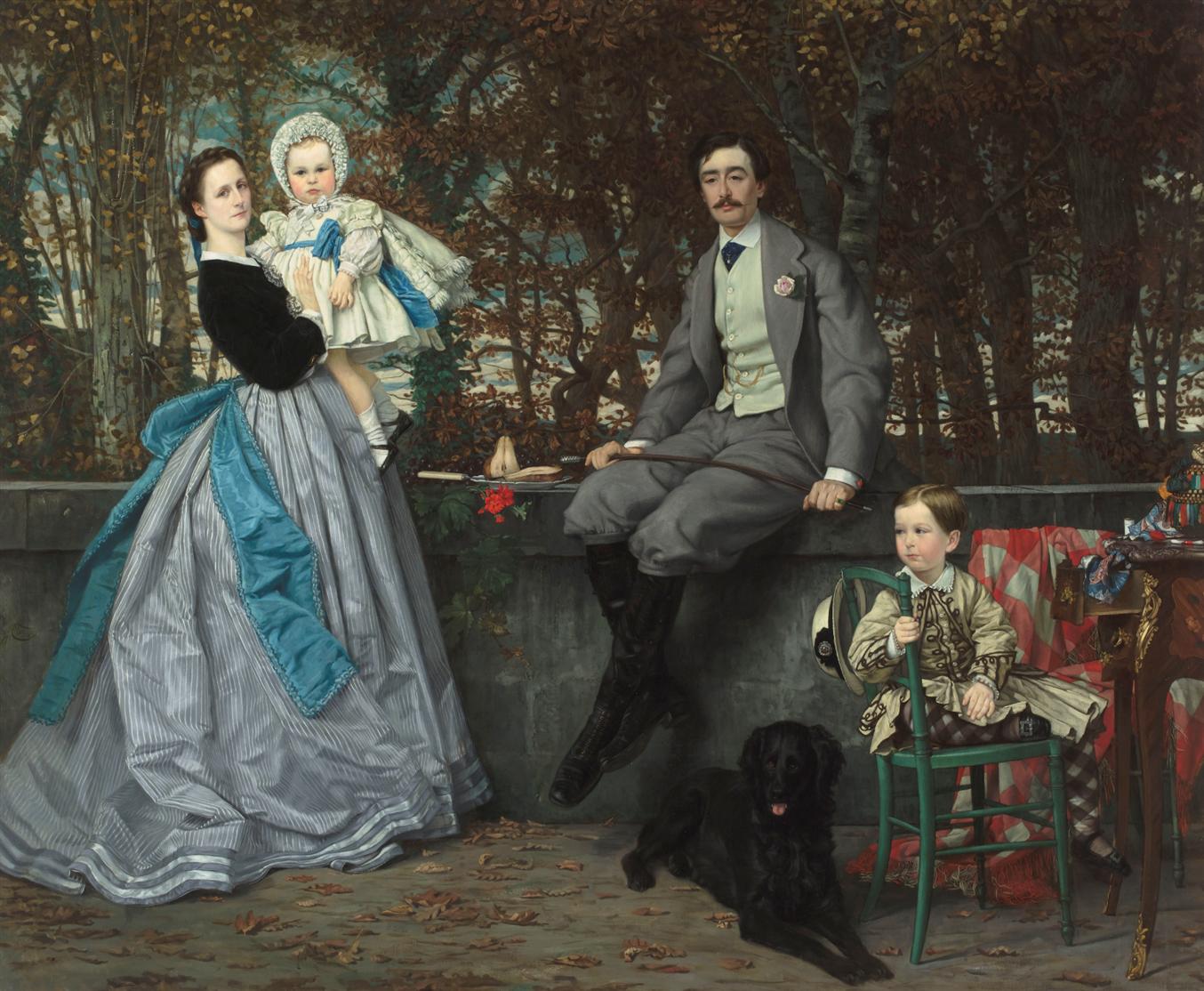 James Tissot, Portrait du marquis et de la marquise Miramon et de leur enfants