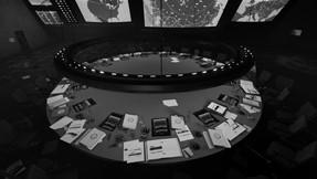Du cabinet fantôme au comité stratégique film Docteur Folamour – Stanley Kubrick, 1964