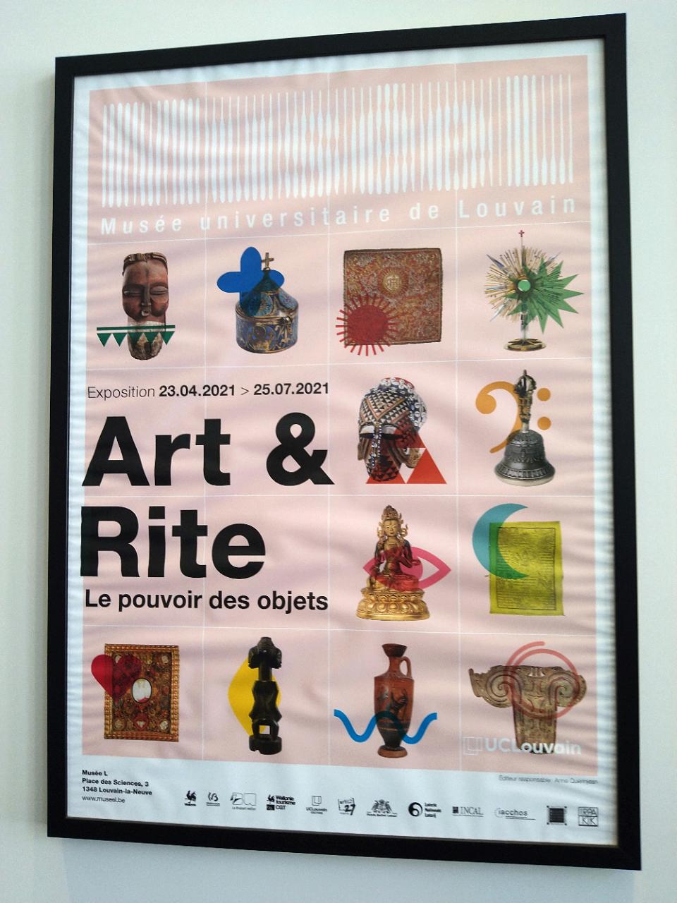 Exposition ART & RITE au Musée L de Louvain-La-Neuve