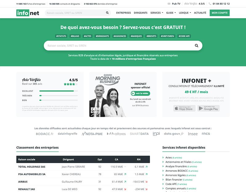Données d'entreprises : pourquoi Infonet.fr est désormais incontournable ?