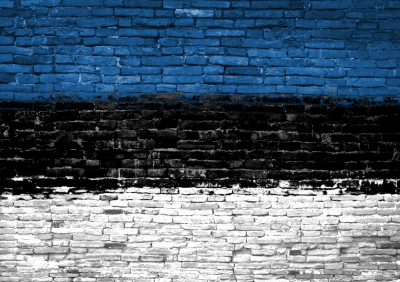 "Crédit: ""Estonia Flag Painted On Wall"" / criminalatt"