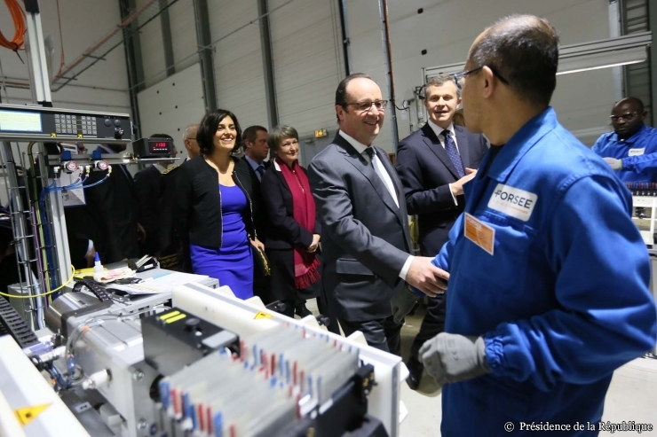François Hollande en visite chez Forsee Power