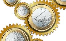 Progression de la croissance et de l'inflation en zone euro